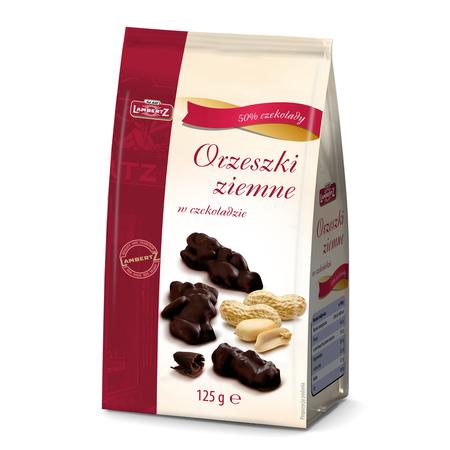 Orzeszki ziemne w deserowej czekoladzie LAMBERTZ 125g