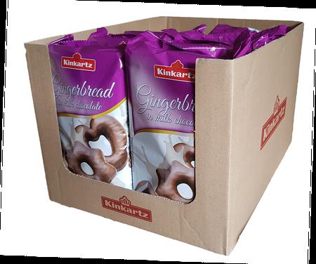 Karton 10x Kinkartz pierniki w mlecznej czekoladzie 400g