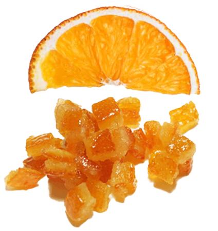 suszona kandyzowana skórka pomarańczy
