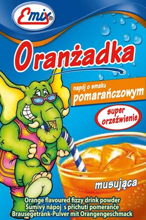 Oranżadka w proszku o smaku pomarańczy musująca
