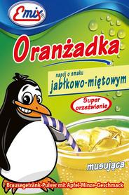 Oranżadka w proszku o smaku jabłkowo-miętowym musująca