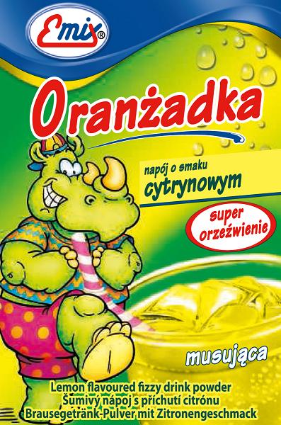 Oranżadka w proszku o smaku cytrynowym musująca