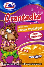 Oranżadka w proszku o smaku owoców tropikalnych musująca